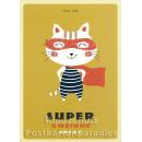 Super Awesome Great - Up-Cards Aufstell Postkarte von Taurus