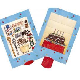 Geburtstagstorte - Lebende Postkarten mit Lasche zum Ziehen