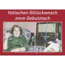 Postkarte - Hzlischen Glllückwunsch zmm Gebutztach
