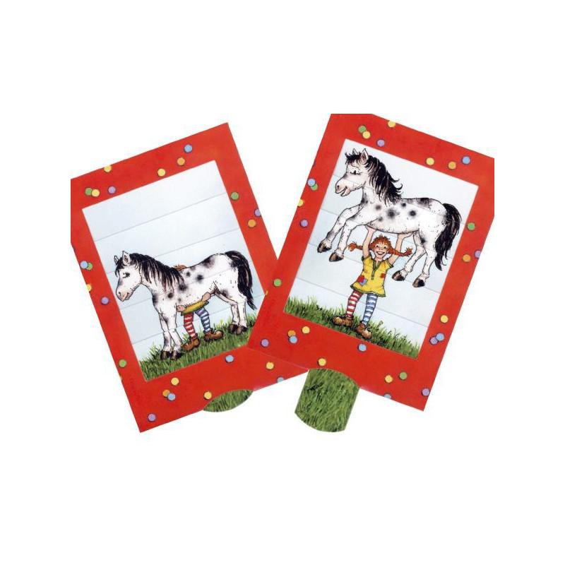 Lotta und das Pferd - Lebende Postkarten mit Lasche