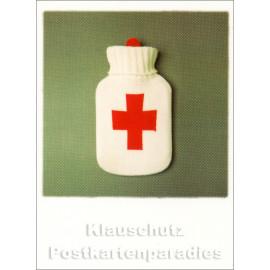 Mini Doppelkarte Polacard (6,5 x 8,5) mit Wärmflasche