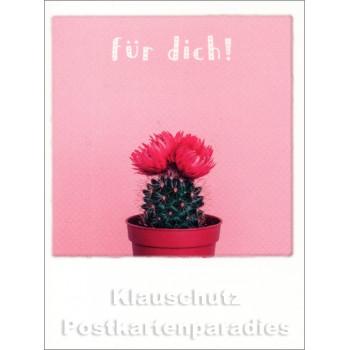 Mini Doppelkarte Polacards  | Pink Kaktus