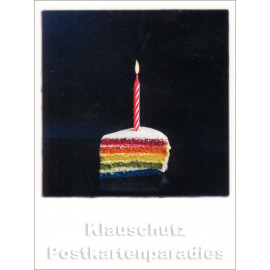 Mini Doppelkarte Polacards  | Regenbogen Torte