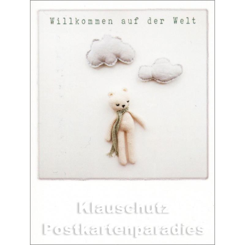 Mini Doppelkarte Polacards  | Willkommen auf der Welt