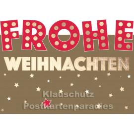 Postkarte - Frohe Weihnachten (ausgestanzt)
