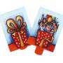 Geburtstagsparty und Geschenk | Lebende Postkarte zum Geburtstag