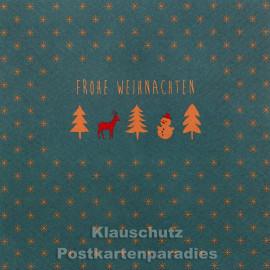 Quadratische Postkarte zu Weihnachten - Frohe Weihnachten