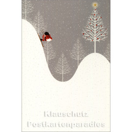 Weihnachten Doppelkarte - Guter Rutsch Weihnachtsmann