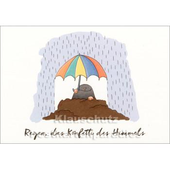 SkoKo Postkarte - Regen ist das Konfetti des Himmels