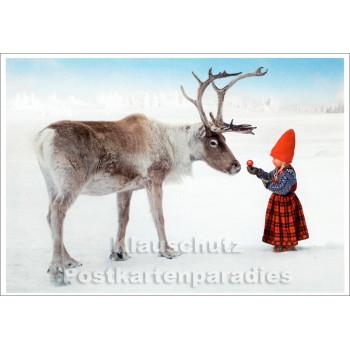 SkoKo Weihnachtskarte - Ein Äpfelchen fürs Rentier