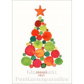 Weihnachtsbaum aus Kugeln   Postkarte zu Weihnachten