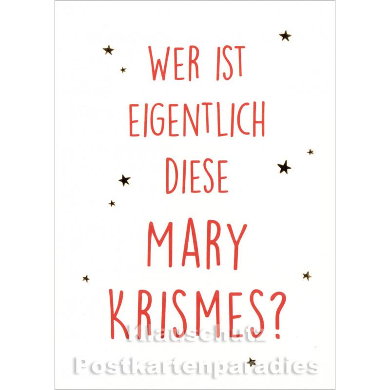 Mary Krismes | Weihnachtspostkarte