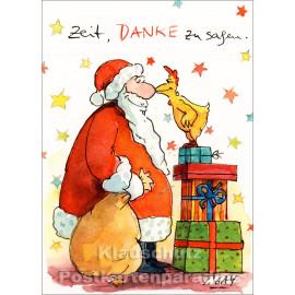 Zeit, danke zu sagen | Peter Gaymann Weihnachtskarte
