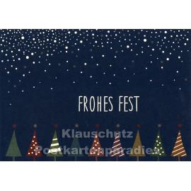 Frohes Fest | Weihnachtskarte mit Metallic-Lack