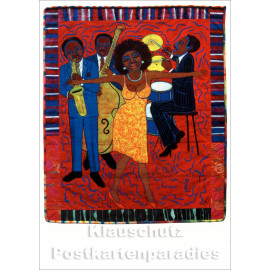 Faith Ringgold Kunstkarte | Jazz Stories