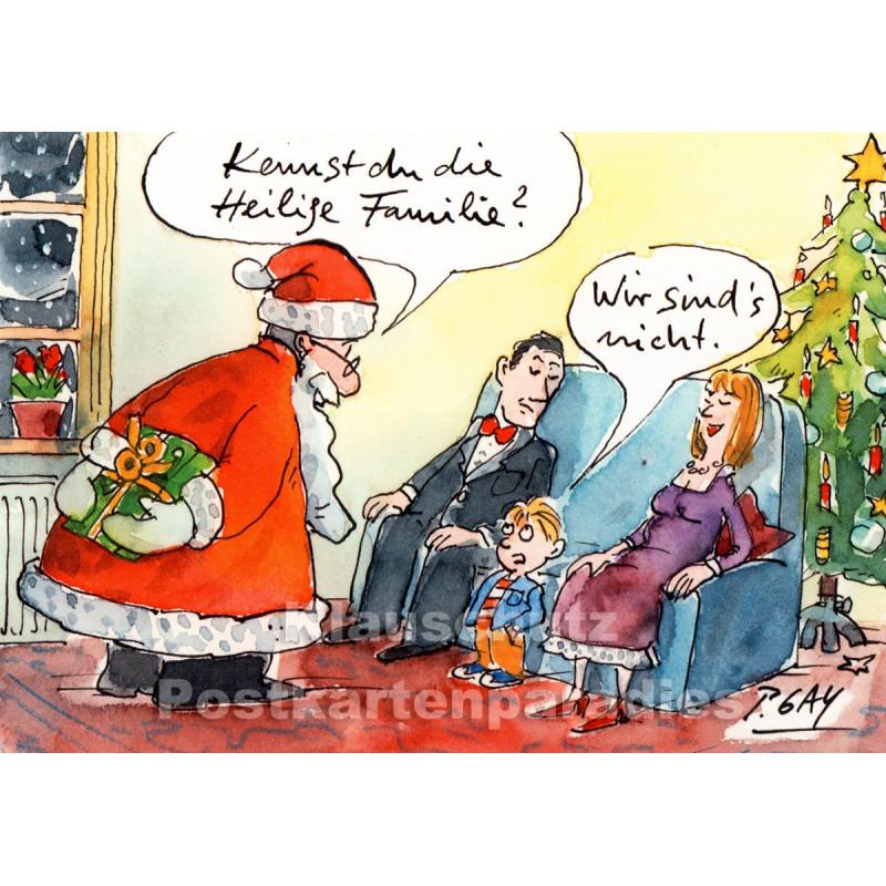 Kennst du die heilige Familie? | Peter Gaymann Weihnachtskarte