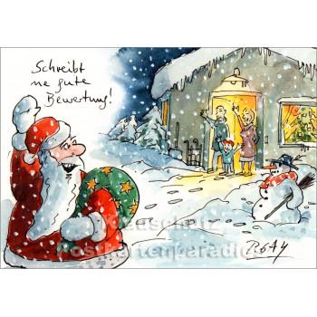 Schreibt ne gute Bewertung   Gaymann Weihnachtskarte