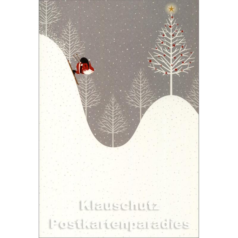 Weihnachtskarte - Guter Rutsch Weihnachtsmann