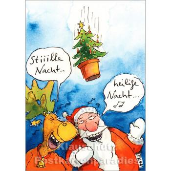 Stiiille Nacht ... heilige Nacht - Lustige Peter Gaymann Weihnachtskarte