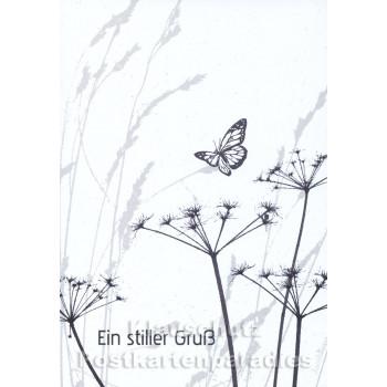 Stilvolle Trauerkarte mit Schmetterling | Ein stiller Gruß