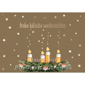 Weihnachtskarte Köln | Frohe kölsche Weihnachten
