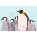 Holzschliffpappe Postkarten von Blankensteyn | Ahoi Pinguine