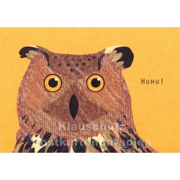 Holzschliffpappe Postkarten von Blankensteyn | Huhu Eule