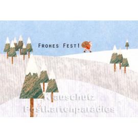 Holzschliffpappe Weihnachtskarten von Blankensteyn | Frohes Fest