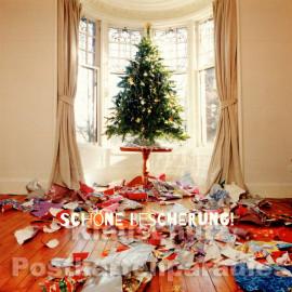 Quadrat Postkarte zu Weihnachten - Schöne Bescherung