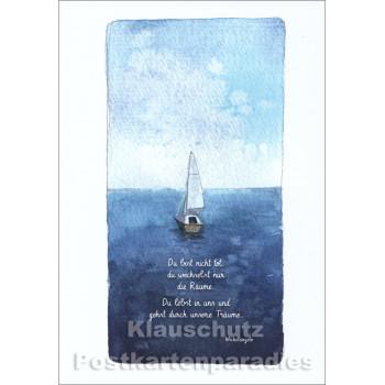 Doppelkarte Trauer mit Michelangelo Zitat