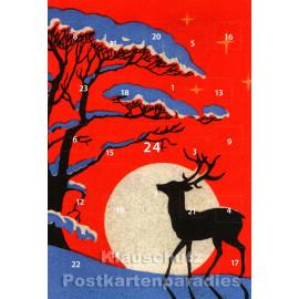 Adventskalender Doppelkarte - Hirsch, Hase oder Meise?