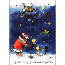 Adventskalender Doppelkarte Janosch - Fröhliche Weihnachtsgrüße