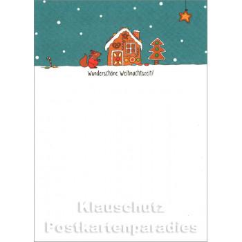 Wunderschöne Weihnachtszeit | Postkarte Weihnachten von SkoKo