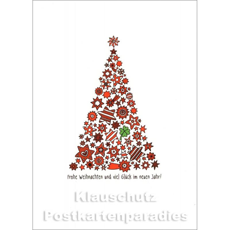Weihnachtsbaum aus Sternen | Weihnachtskarte von SkoKo