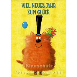 Viel neues Jahr zum Glück | Postkarte  von Discordia