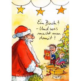Ein Buch | Peter Gaymann Weihnachtskarte von Discordia