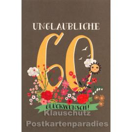 Doppelkarte von SkoKo - runder Geburtstag | 60