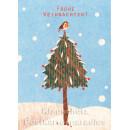 Holzschliffpappe Postkarte von Blankensteyn zu Weihnachten - Frohe Weihnachten