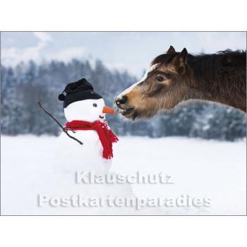 Rannenberg Doppelkarte - Pferd und Schneemann