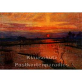Taurus Kunstkarte | Otto Modersohn | Sonnenuntergang