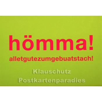 Hömma! Witzige Cityproducts Ruhrpott Postkarte zum Geburtstag