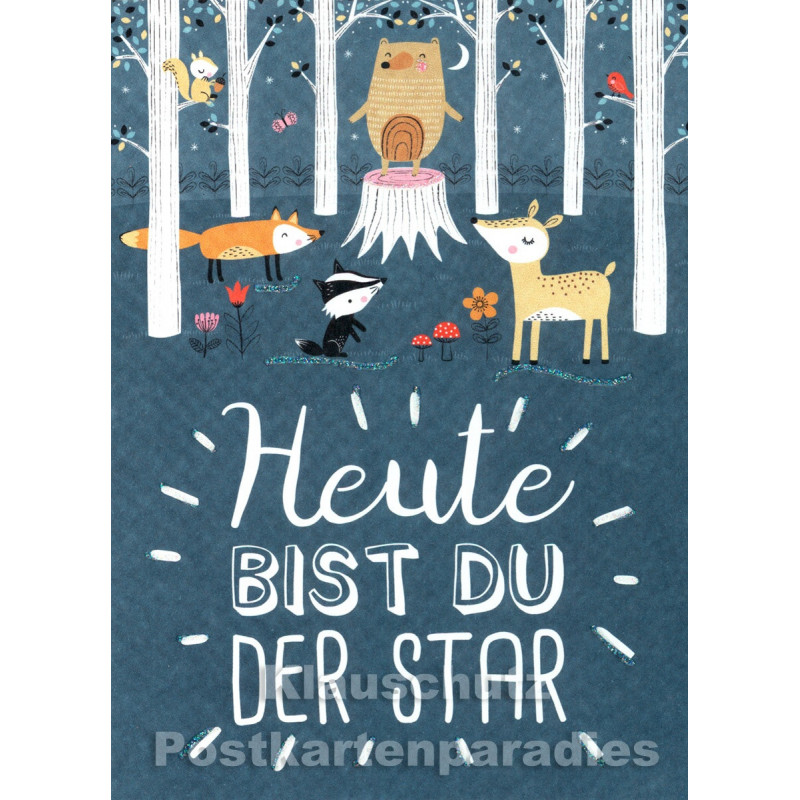 Heute bist du der Star | SkoKo Little Greetings Midi-Doppelkarte