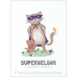 Superheldin | SkoKo Little Greetings Midi-Doppelkarte
