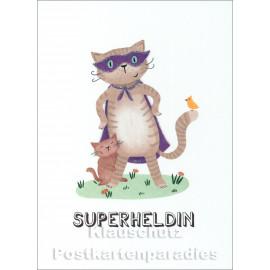 Superheldin | SkoKo Little Greetings Midi-Doppelkarte