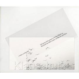 Und meine Seele spannte weit ihre Flügel aus - Eichendorff Trauerkarte Doppelkarte