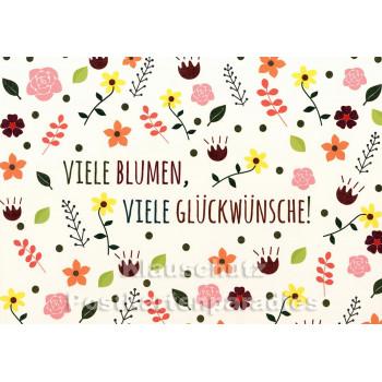 Viele Blumen, viele Glückwünsche - SkoKo Geburtstagskarte