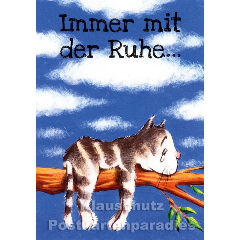 Immer mit der Ruhe - Postkarte von Thomas Röhner