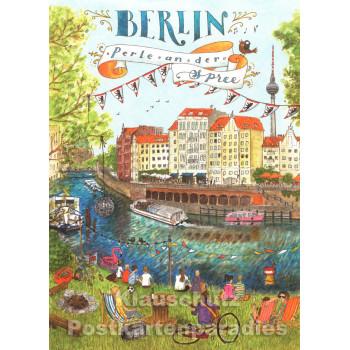 Berlin, Perle an der Spree - SkoKo Postkarte