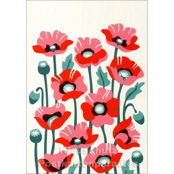 Schöne Doppelkarte mit Blumenmotiv von Discordia