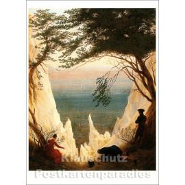 Caspar David Friedrich - Kreidefelsen auf Rügen | Taurus Kunstkarte